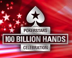 die 100milliardste Hand bei PokerStars
